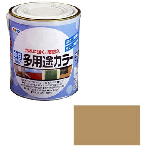 アサヒペン 水性多用途カラー1.6Lソフトオーカー【入数:6】【smtb-s】