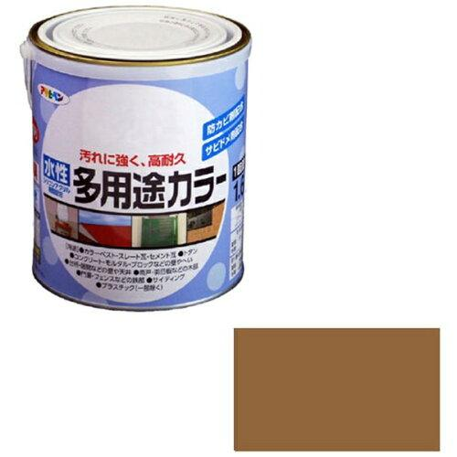 アサヒペン 水性多用途カラー1.6Lカーキー【入数:6】【smtb-s】