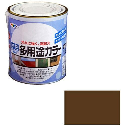 アサヒペン 水性多用途カラー1.6Lブラウン【入数:6】【smtb-s】