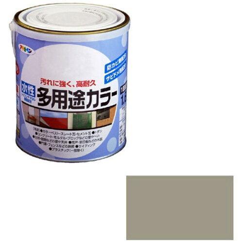 アサヒペン 水性多用途カラー1.6Lライトグレー【入数:6】【smtb-s】
