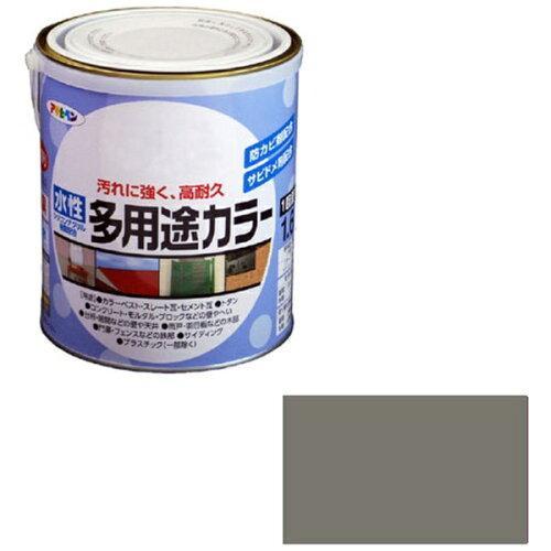 アサヒペン 水性多用途カラー1.6Lグレー【入数:6】【smtb-s】