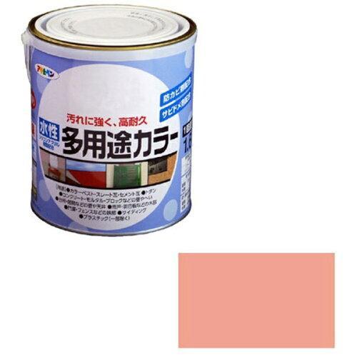アサヒペン 水性多用途カラー1.6Lコスモスピンク【入数:6】【smtb-s】