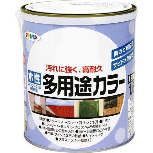 アサヒペン 水性多用途カラー1.6Lフレッシュグリーン【入数:6】【smtb-s】