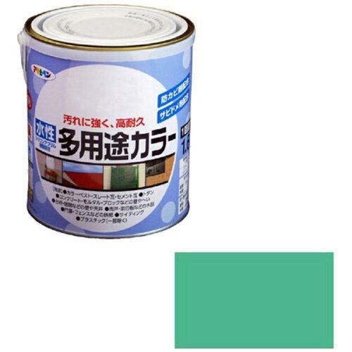 アサヒペン 水性多用途カラー1.6Lコバルトグリーン【入数:6】【smtb-s】
