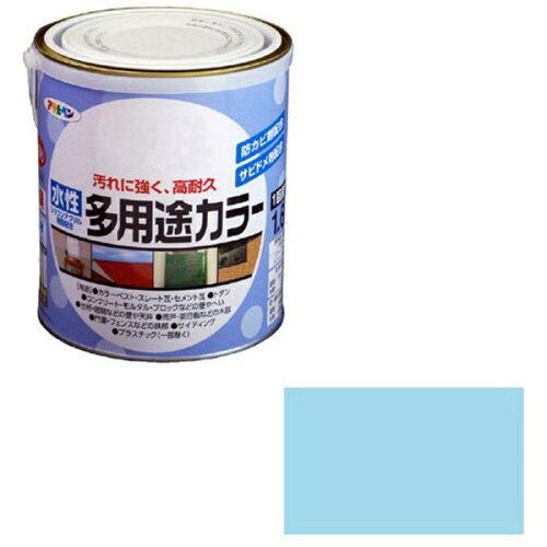 アサヒペン 水性多用途カラー1.6L水色【入数:6】【smtb-s】