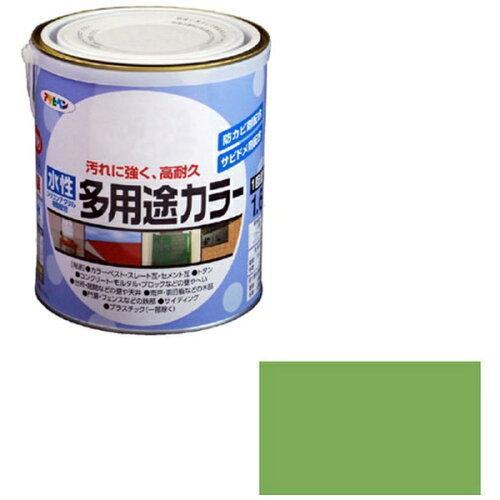 アサヒペン 水性多用途カラー1.6L若草色【入数:6】【smtb-s】