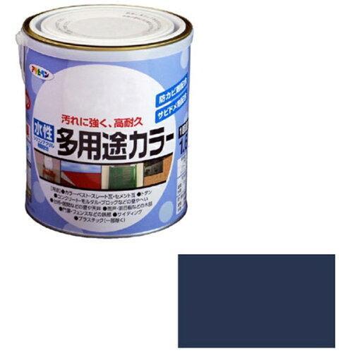 アサヒペン 水性多用途カラー1.6Lなす紺【入数:6】【smtb-s】