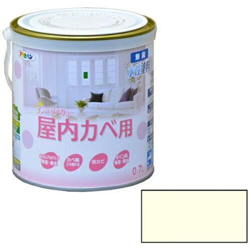 アサヒペン NEW水性インテリアカラー屋内カベ0.7Lホワイトイエロー【入数:6】【smtb-s】