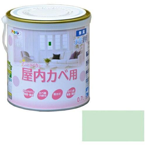 アサヒペン NEW水性インテリアカラー屋内カベ0.7Lパステルグリーン【入数:6】【smtb-s】