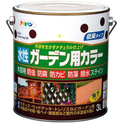 アサヒペン 水性ガーデン用カラー3Lライトオーク【入数:4】【smtb-s】