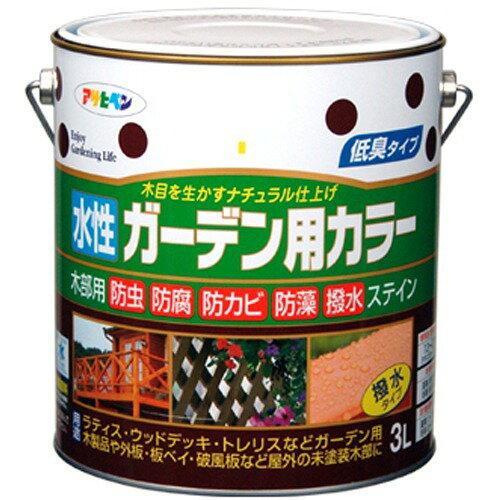 アサヒペン 水性ガーデン用カラー3Lワインレッド【入数:4】【smtb-s】