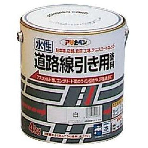 アサヒペン 水性道路線引き用塗料4KG白【入数:4】【smtb-s】