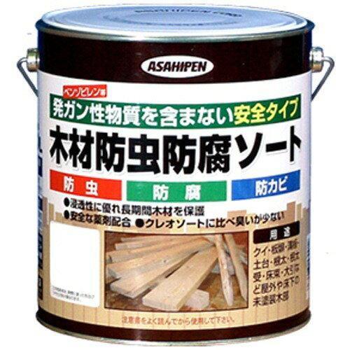 アサヒペン 木材防虫防腐ソート2.5L透明(クリヤ)【入数:4】【smtb-s】