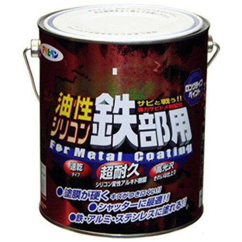 アサヒペン 油性シリコン鉄部用1.6L青【入数:6】【smtb-s】