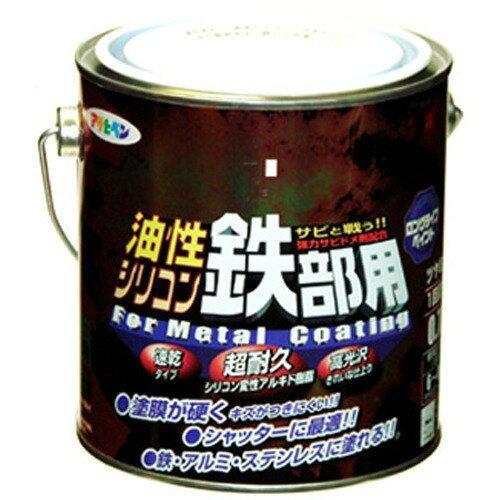アサヒペン 油性シリコン鉄部用0.7L赤【入数:6】【smtb-s】