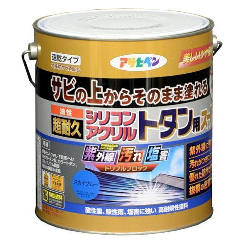 アサヒペン 油性超耐久シリコンアクリルトタン用3KGスカイブルー【入数:4】【smtb-s】