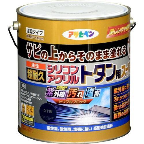 アサヒペン 油性超耐久シリコンアクリルトタン用3KGなす紺【入数:4】【smtb-s】