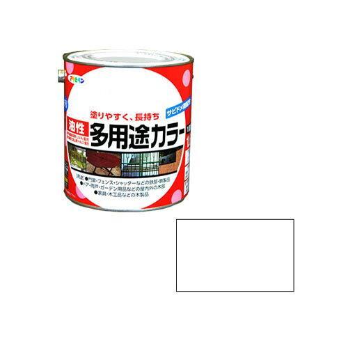 アサヒペン 油性多用途カラー1.6L白【入数:6】【smtb-s】