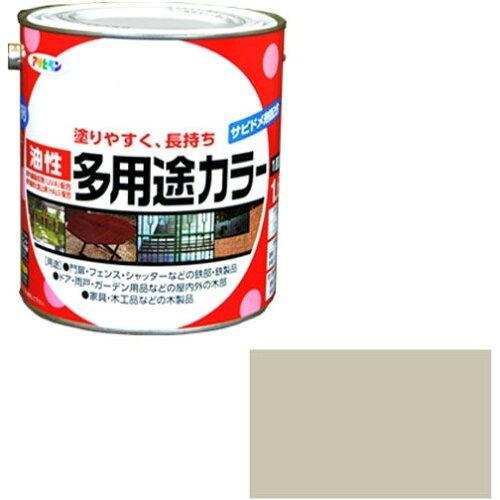 アサヒペン 油性多用途カラー1.6Lソフトグレー【入数:6】【smtb-s】
