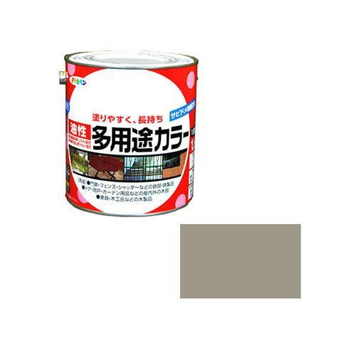 アサヒペン 油性多用途カラー1.6Lライトグレー【入数:6】【smtb-s】