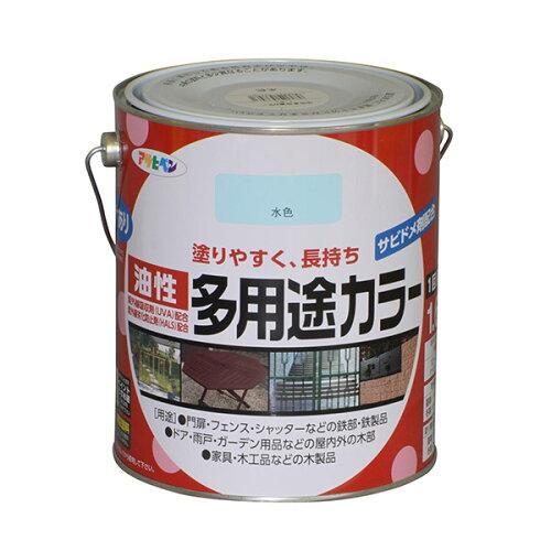 アサヒペン 油性多用途カラー1.6L水色【入数:6】【smtb-s】