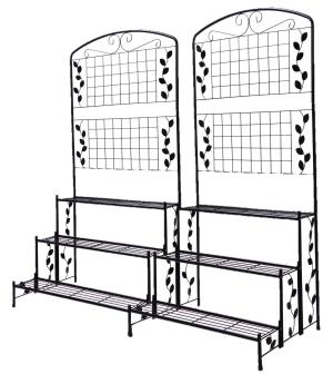 タック アイアン ガーデン フェンス フラワー スタンド 3段タイプ 2台セット【smtb-s】