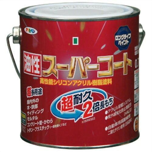 アサヒペン 油性スーパーコート0.7L黒【入数:6】【smtb-s】