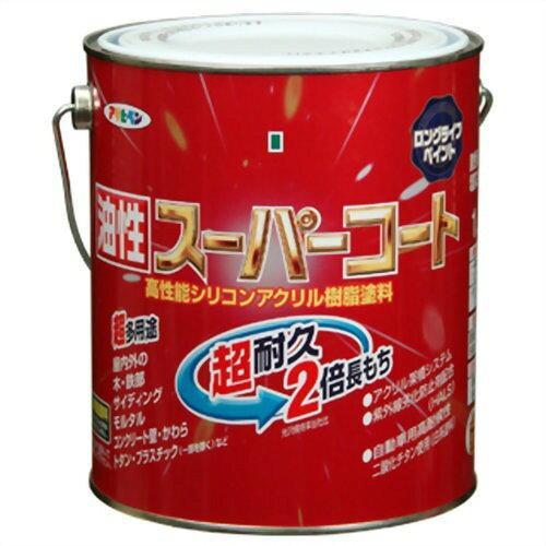 アサヒペン 油性スーパーコート1.6L銀黒【入数:6】【smtb-s】