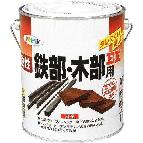 アサヒペン 油性鉄部・木部用EX1.6Lライトグレー【入数:6】【smtb-s】
