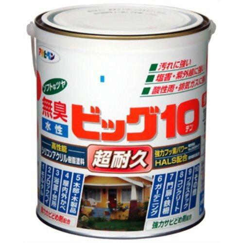 アサヒペン 水性ビッグ10多用途1.6L207ニースイエロー【入数:6】【smtb-s】