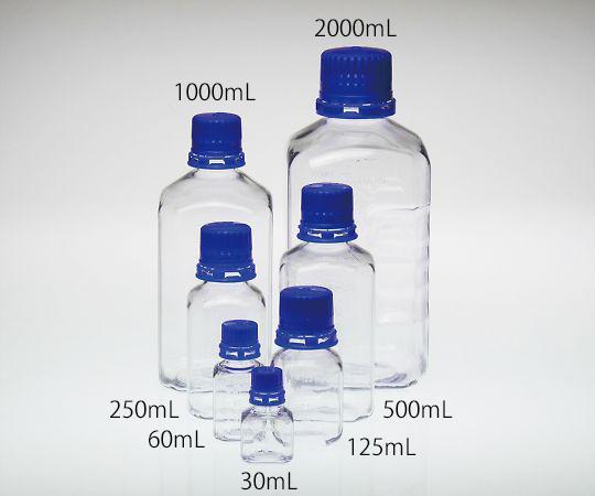 PETG滅菌培地瓶 2000mL 6本入BGC2000S3-8986-07【smtb-s】