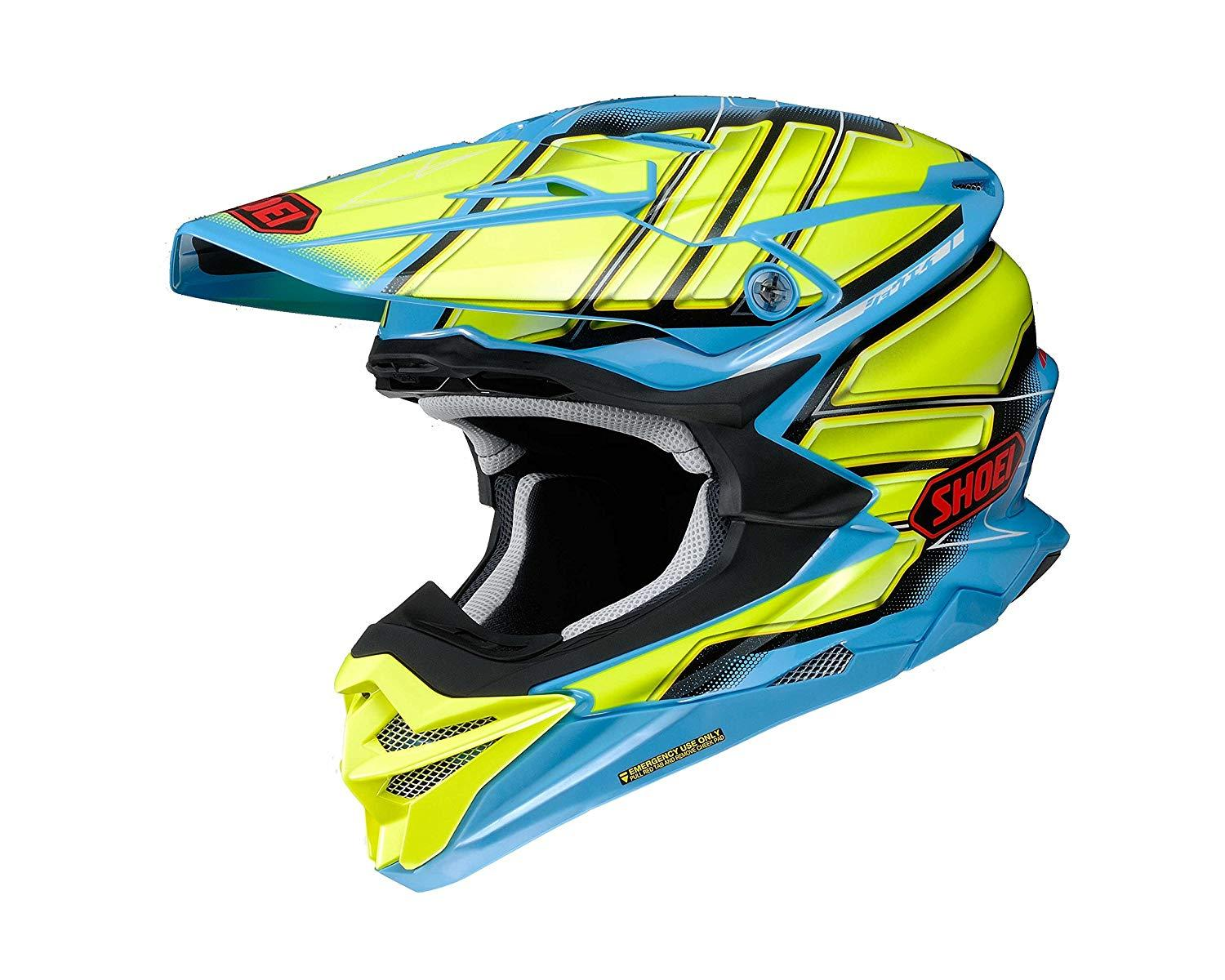 SHOEI 【必ず購入前に仕様をご確認下さい】VFX-WR GLAIVE TC-2 BLUE/YELLOW XL【smtb-s】
