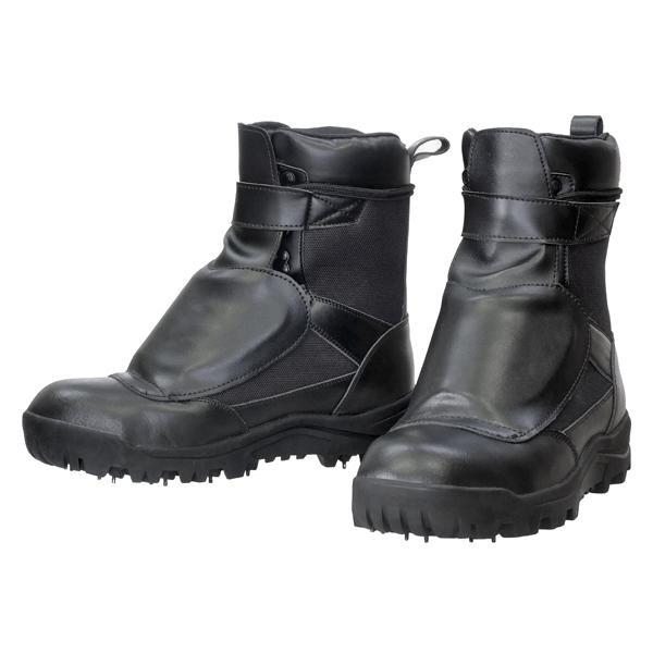 荘快堂 防護材付スパイク作業靴 甲ガード安全スパイクシューズ RV-202G 25.5 (1229998)【smtb-s】