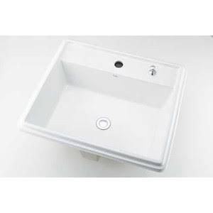 カクダイ 493-151H 角型洗面器//1ホール・ポップアップ独立つまみタイプ【smtb-s】