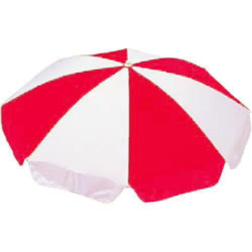 テラモト ガーデンパラソル 赤/白 165cm(MZ5916166)【入数:2】【smtb-s】
