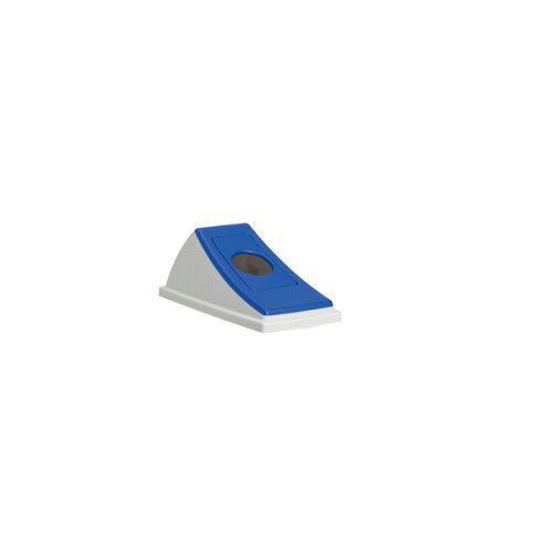 テラモト エコン ダストボックス#30 蓋 ブルー ビンカン用 丸穴(DS2201033)【入数:24】【smtb-s】
