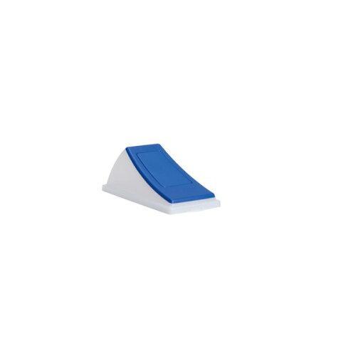 テラモト エコン ダストボックス#30透明 蓋 ブルー 一般ゴミ用 プッシュ(DS2205023)【入数:24】【smtb-s】