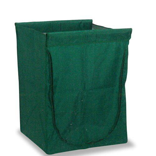テラモト スタンディングカート(替袋E)緑 ファスナー付 大(DS2265601)【入数:10】【smtb-s】