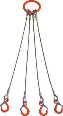 大洋製器工業 大洋 4本吊 ワイヤスリング 1.6t用×1.5m 4WRS1.6TX1.5【smtb-s】