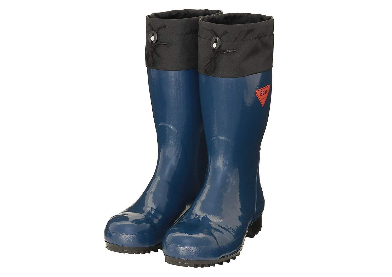 SHIBATA シバタ工業 安全長靴 AB061 セーフティベアー500 ネイビー 30センチ (1238893)【smtb-s】