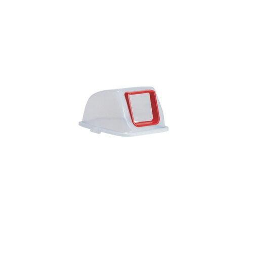 テラモト 分別リサイクルペール90 蓋 N 半透明 オープン(DS2562110)【入数:8】【smtb-s】