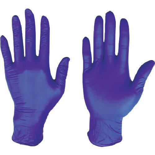 川西工業 ニトリル 使いきり手袋 粉なし ダークブルー L #2062【入数:10】【smtb-s】
