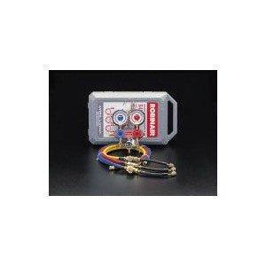 エスコ [R410A] ゲージマニホールドキット(サイトグラス付) (EA101TK)【smtb-s】