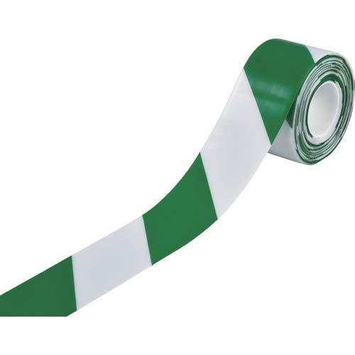 日本緑十字社 緑十字 高耐久ラインテープ 白/緑 100mm幅×10m 両端テーパー構造【smtb-s】
