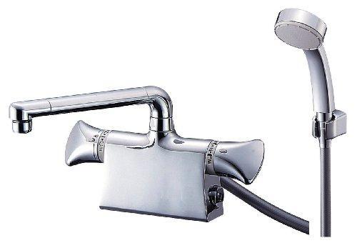【送料無料】 YAZAWA サーモデッキシャワー混合栓 節水水栓 浴室用 断熱仕様 取付芯ピッチ:120mm U-MIX SK78011DS9【smtb-s】