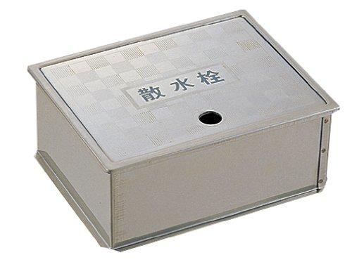YAZAWA 散水栓ボックス(床面用) ガーデニング ヘアライン仕上 外寸:190×235×95mm R81-4-190X235【smtb-s】