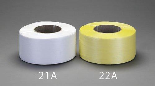 エスコ 15.0mmx2500m PPバンド(紙管付/白) (EA628PL-21A)【smtb-s】