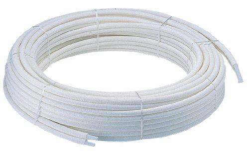 YAZAWA 保温材付ペア樹脂管 バスルーム用 追焚付給湯器と一口循環接続金具の配管用 外径13mm T421R-862-10A【smtb-s】