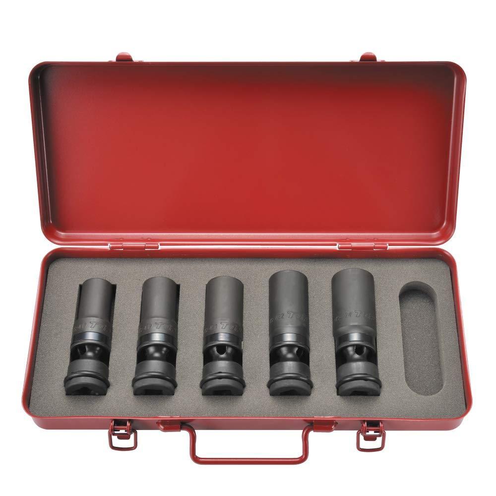 トップ工業 インパクトレンチ用ユニバーサルソケットセット(差込角12.7mm) (PUS-1724S)【smtb-s】