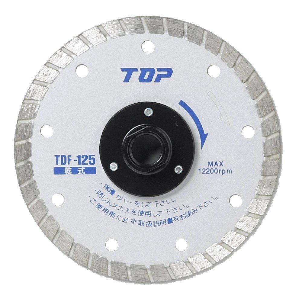 トップ工業 フランジ付ダイヤモンドホイール (TDF-125)【smtb-s】